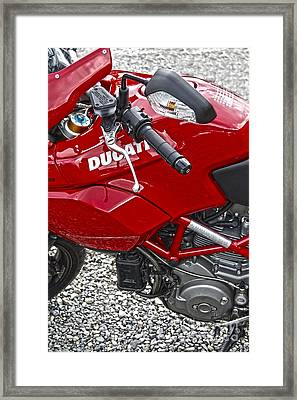 Ducati Red Framed Print by Diane E Berry
