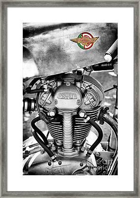 Ducati Single Monochrome  Framed Print