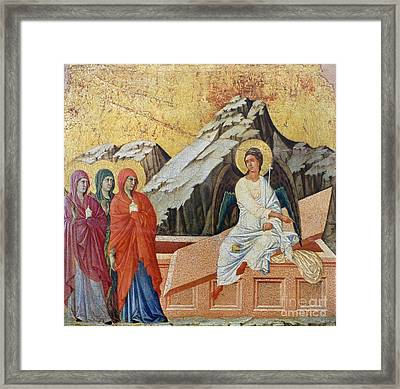 Duccio - Three Marys Framed Print by Granger