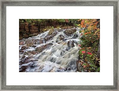 Duchesnay Falls Framed Print by Brian Boudreau