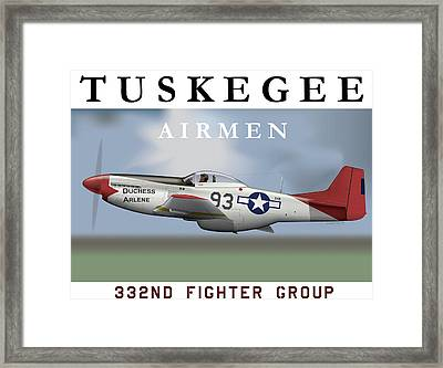 Duchess Arlene Of The Tuskegee Airmen Framed Print by Matthew Webb