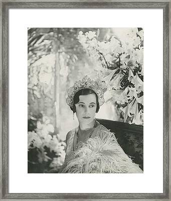 Duchess Of Westminster Framed Print by Cecil Beaton