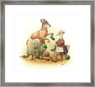Duck And Kangaroo Framed Print