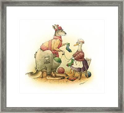 Duck And Kangaroo Framed Print by Kestutis Kasparavicius