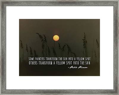 Duck Beach Quote Framed Print by JAMART Photography