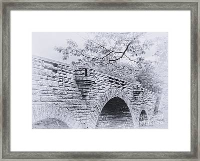 Duck Brook Bridge In Black And White Framed Print