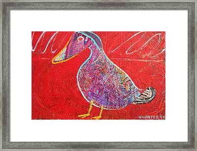 Duck Framed Print by Dave Kwinter