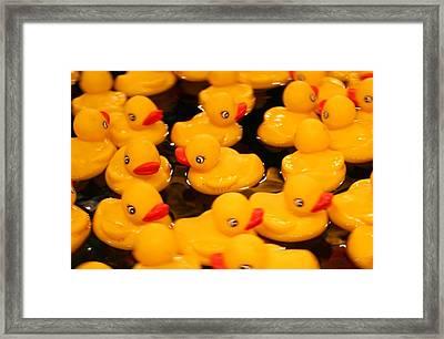 Duck Game Framed Print