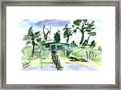 Duck Hunters Cabin Framed Print by Kevin Callahan