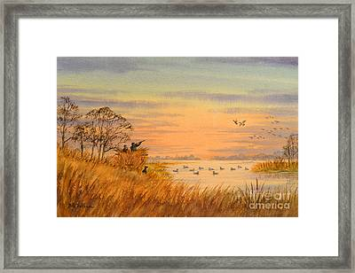 Framed Print featuring the painting Duck Hunting Calls by Bill Holkham