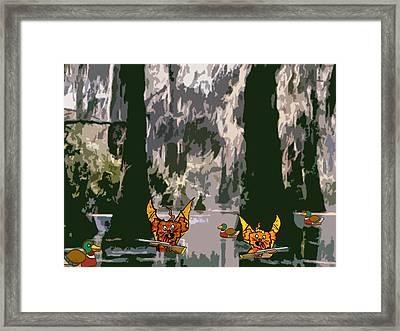 Duck Hunting Framed Print