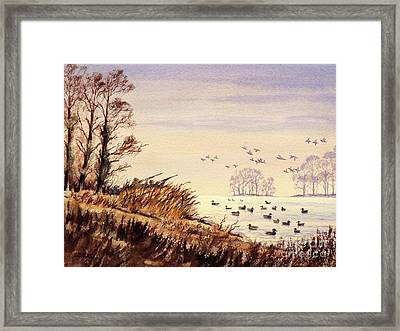 Duck Hunting Times Framed Print by Bill Holkham