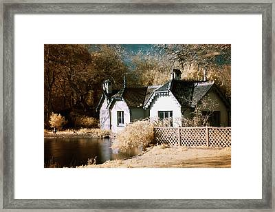 Framed Print featuring the photograph Duck Island Cottage by Helga Novelli