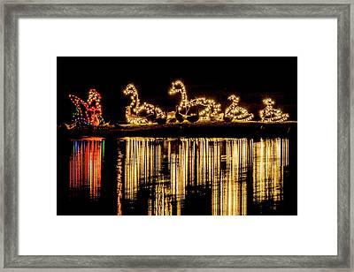 Duck Pond Christmas Framed Print