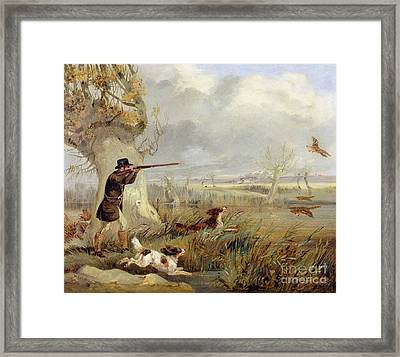 Duck Shooting  Framed Print by Henry Thomas Alken