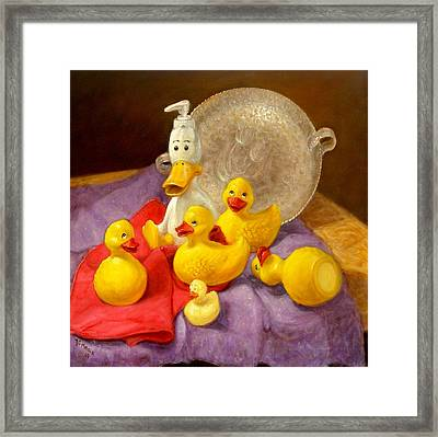 Framed Print featuring the painting Duck Soap by Donelli  DiMaria