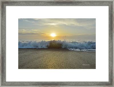Duck Sunrise Framed Print