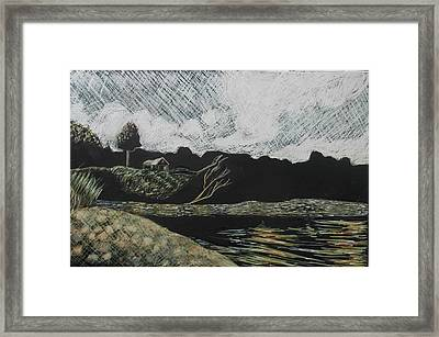 Duck Trap Tidal Cove Framed Print by Grace Keown