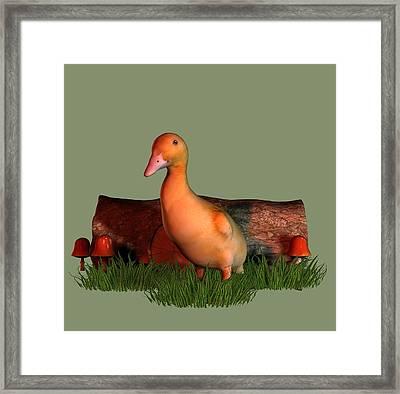 Duckling T Shirt Framed Print