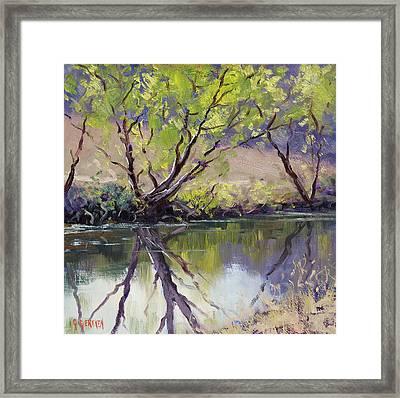 Duckmaloi River Reflections Framed Print by Graham Gercken