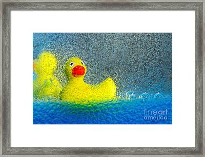 Ducks In The Tub By Kaye Menner Framed Print by Kaye Menner