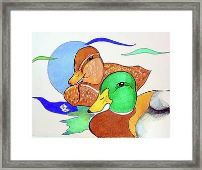 Ducks2017 Framed Print by Loretta Nash
