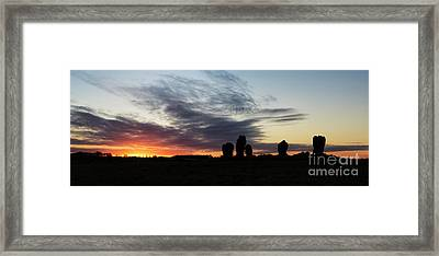 Duddo Five Stones Framed Print by Tim Gainey