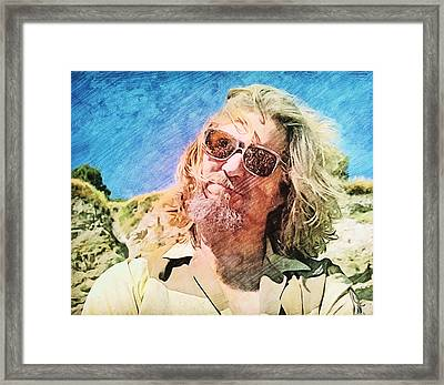 Dude Dusted By Donny's Ashes Framed Print by Nenad Cerovic