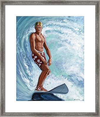 Dude Framed Print by Hank Wilhite