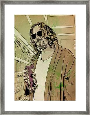 Dude Lebowski Framed Print by Giuseppe Cristiano