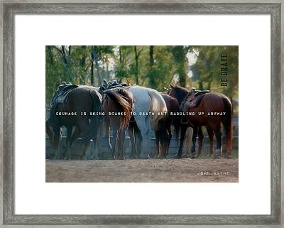 Dude Ranch Quote Framed Print by JAMART Photography