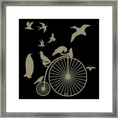 Dude The Birds Are Flocking Tan Transparent Background Framed Print