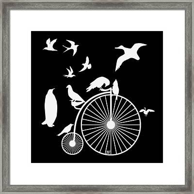 Dudes The Birds Are Flocking White Transparent Background Framed Print
