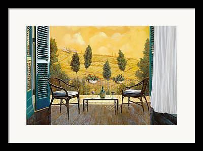 Terraces Framed Prints