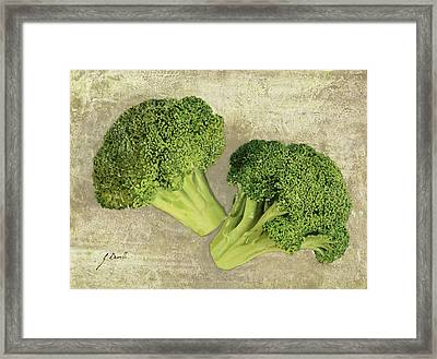 Due Broccoletti Framed Print by Guido Borelli