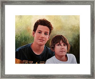 Due Ragazzi Framed Print by Guido Borelli