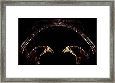 Duel Framed Print by Dom Creations