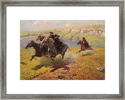 Duel Framed Print by Franz Roubaud