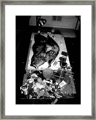 Duel Pig Framed Print