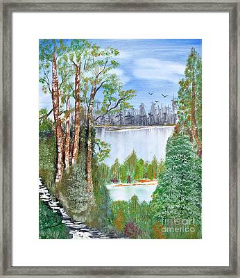 Dueling Lakes Framed Print