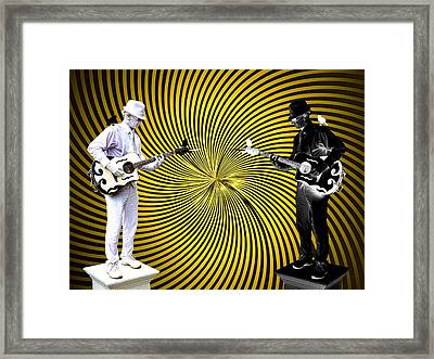 Dueling Mimes Framed Print