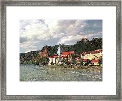 Duernstein In The Wachau Framed Print by Menega Sabidussi
