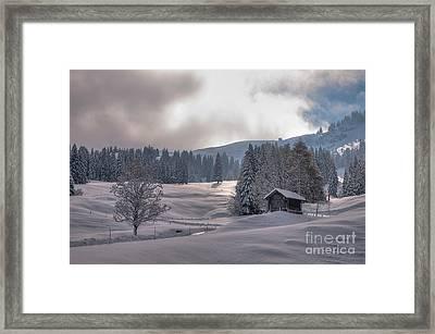 Duerrenboden Wiesenberg Framed Print by Caroline Pirskanen