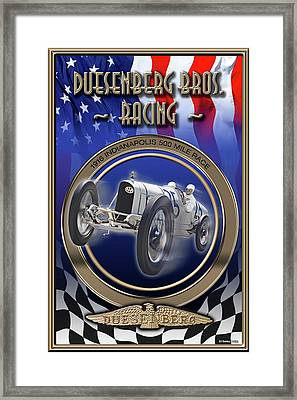 Duesenberg Bros. Racing Framed Print