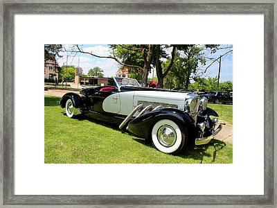 Framed Print featuring the photograph Duesenberg Vii by Michiale Schneider