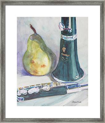 Duet For A Pear Framed Print by Jenny Armitage