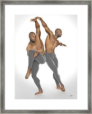 Dueto De Danza Framed Print by Joaquin Abella