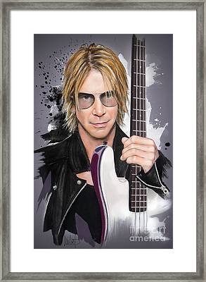 Duff Mckagan Framed Print by Melanie D