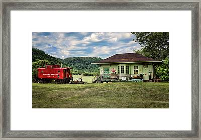 Duffield Depot Framed Print by Heather Applegate