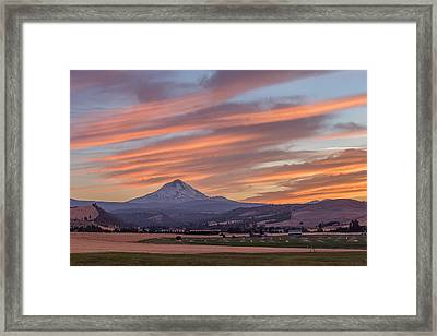 Framed Print featuring the photograph Dufur Views by Patricia Davidson